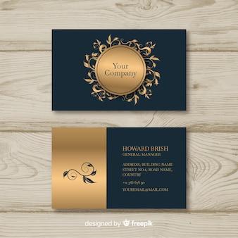 Goldene elegante visitenkarteschablone