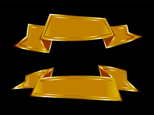 Goldene farbbandfahnen