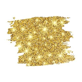 Goldene farbe glitzernde kulisse auf weißem hintergrund. hintergrund mit goldfunkeln und glitzereffekt. leerer platz für ihren text. vektor-illustration