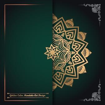 Goldene farbe mandala art design