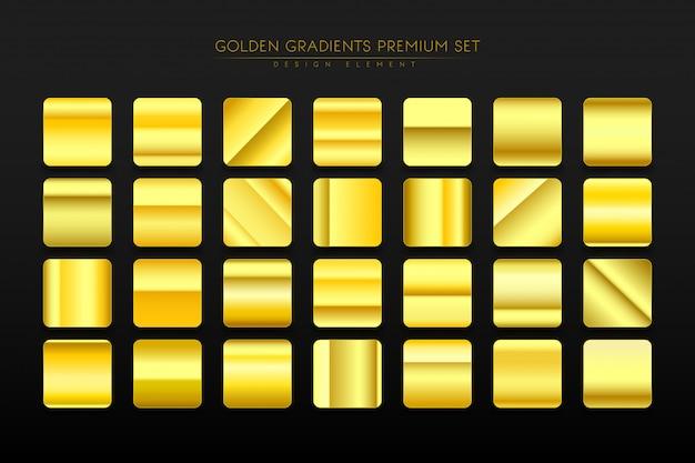 Goldene farbverlauf festgelegt