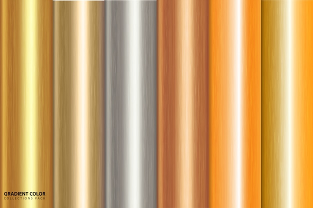 Goldene farbverlauf hintergrund pack