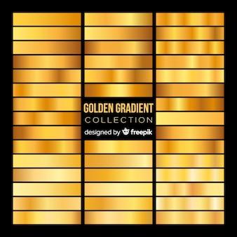 Goldene farbverlaufssammlung