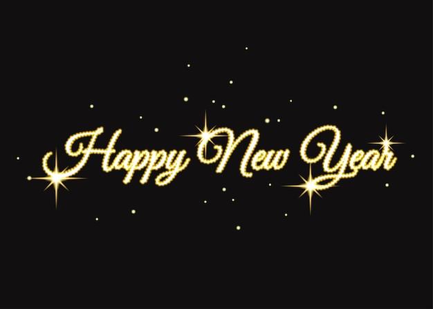 Goldene frohes neues jahr zeichen gold weihnachten typografie für kartenplakat flyer einladung