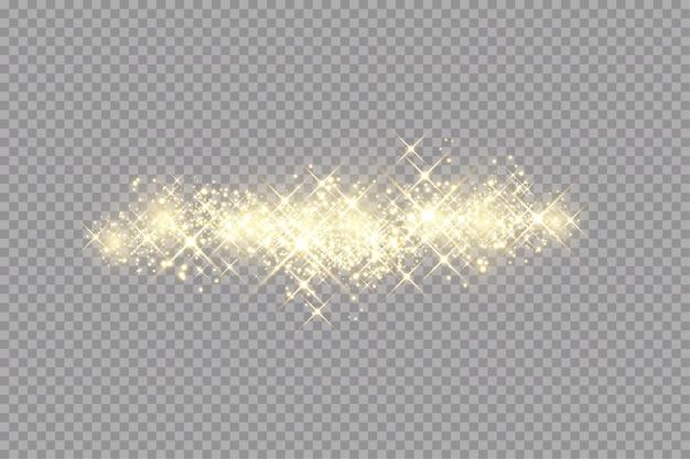 Goldene funken glitzern besonderen lichteffekt.