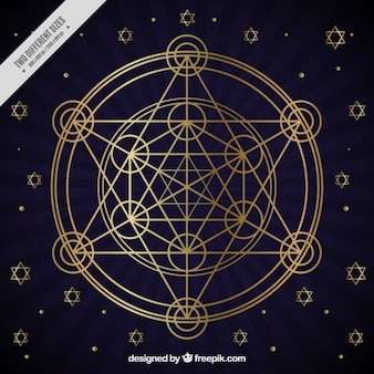 Goldene geometrische figuren