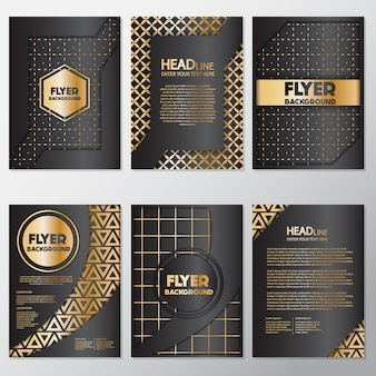 Goldene geometrische flyer design