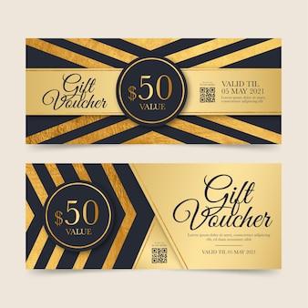 Goldene geschenkgutscheinvorlage
