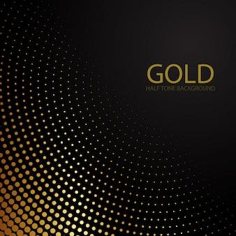 Goldene halbtonhintergrundschablone