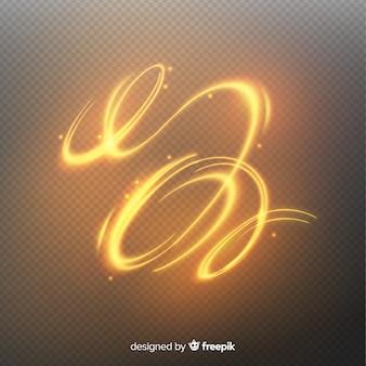 Goldene helle spirale