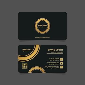 Goldene horizontale luxus-visitenkarte