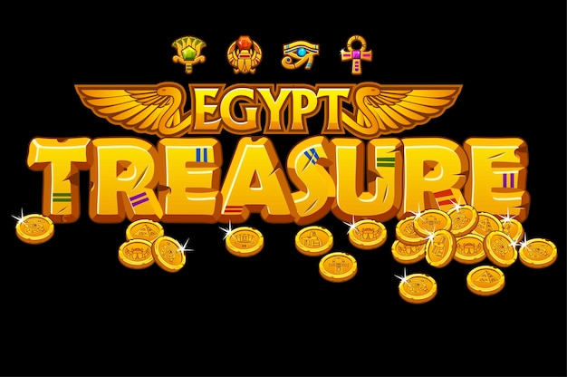 Goldene inschriftenschätze der ägyptischen kultur und zeichen.