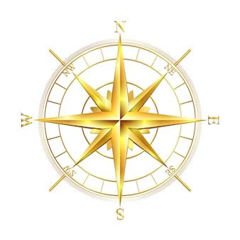 Goldene kompassrose