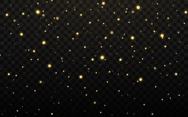 Goldene konfetti und glitzer textur