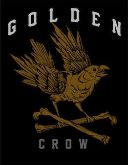 Goldene krähe