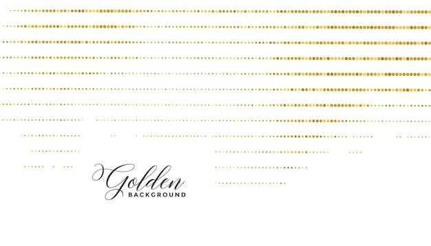 Goldene kreispunkte glitzerlinien musterhintergrund