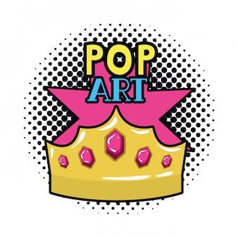Goldene krone pop-art-ikone