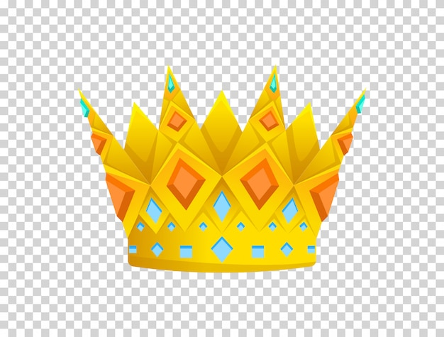 Goldene krone-symbol.
