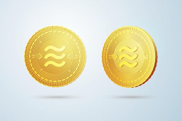 Goldene kryptowährung münze