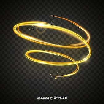 Goldene lichteffektsammlung