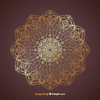 Goldene lineal mandala