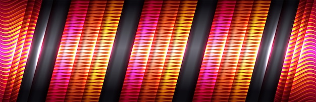 Goldene linie des modernen deluxe-designs mit rosa und roten farbtönen