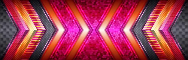 Goldene linie des modernen luxusdesigns mit rosa und roten schattierungsart
