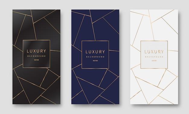 Goldene linien muster hintergrund. luxus-stil