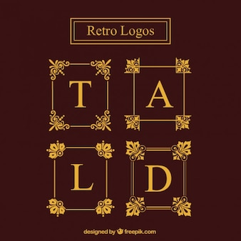 Goldene logo-rahmen