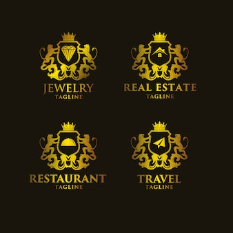 Goldene logo-vorlagen sammlung