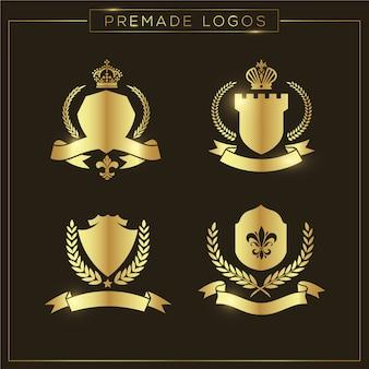 Goldene logos sammlung