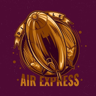 Goldene luft express illustration