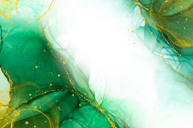 Goldene luxuriöse flüssige tapete