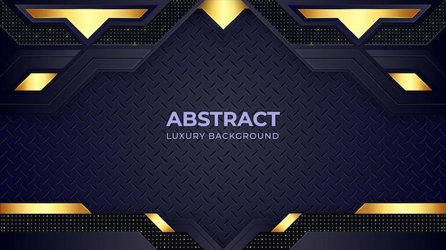 Goldene luxus-hintergrundschablone mit geometrischen formen.