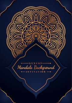 Goldene luxus-mandala-karte