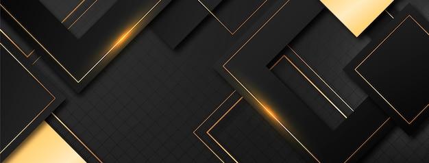 Goldene luxus-social-media-cover-vorlage mit farbverlauf