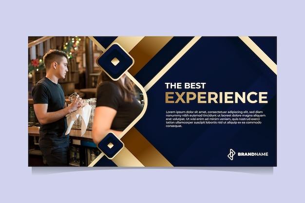 Goldene luxus-social-media-post-vorlage mit farbverlauf Premium Vektoren