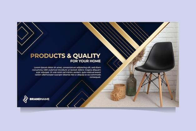 Goldene luxus-social-media-post-vorlage mit farbverlauf