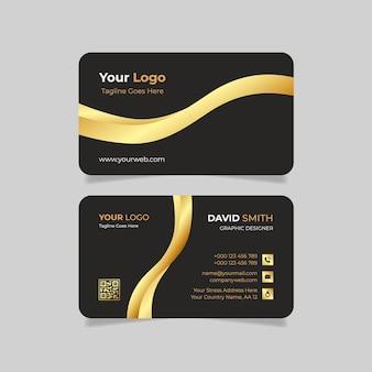 Goldene luxus-visitenkarte mit farbverlauf