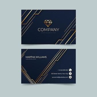 Goldene luxus-visitenkartenvorlage mit farbverlauf