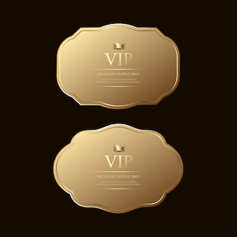Goldene luxusabzeichen und -etiketten