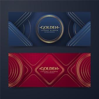 Goldene luxusbanner mit farbverlauf