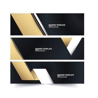 Goldene luxusfahne