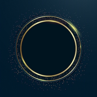 Goldene luxusrahmenschablone mit farbverlauf
