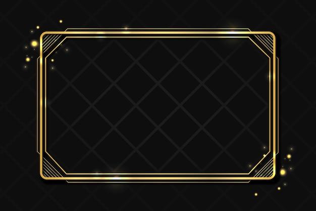 Goldene luxusrahmenschablone
