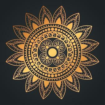 Goldene mandala-blume