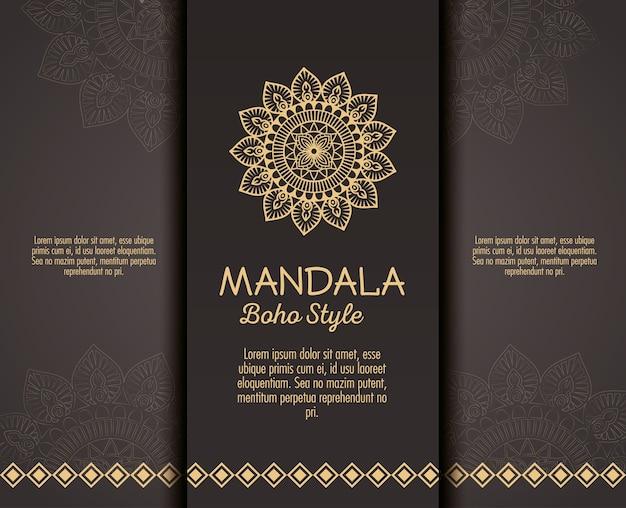 Goldene mandala boho-artflieger
