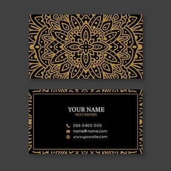 Goldene mandala-visitenkarte