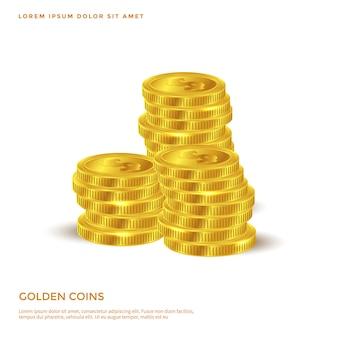 Goldene münze objekt