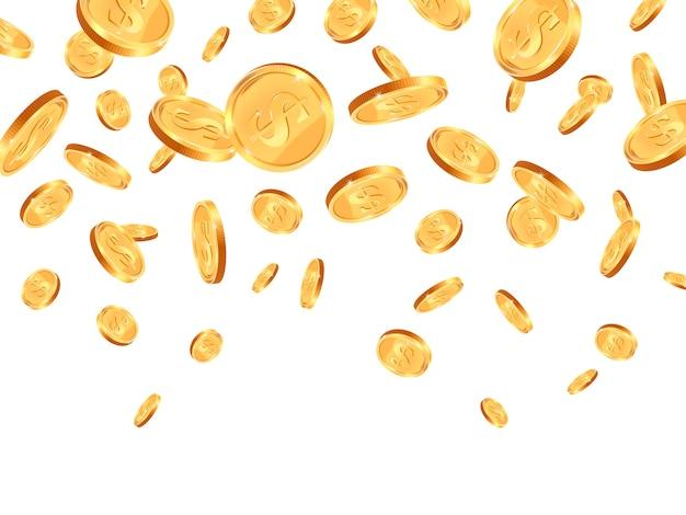 Goldene münzen illustration
